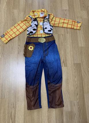 Вуди костюм. история игрушек. ковбой. шериф.