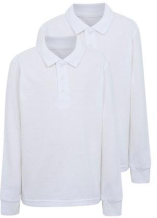 Школьные блузки поло george длинный рукав 5-6, 6-7, 8-9, 9-10 лет