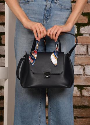 Женская сумка с ручкой синяя сумка через плечо синий клатч через плечо кроссбоди