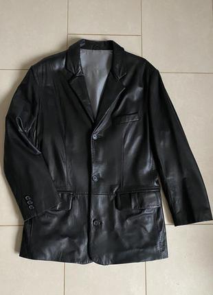 Кожаный блейзер мужской размер l/ 48