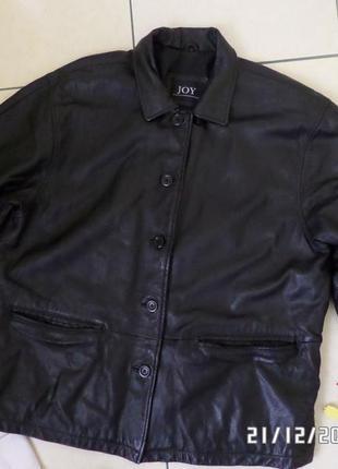 Joy xxl-xxxl шкіряна куртка