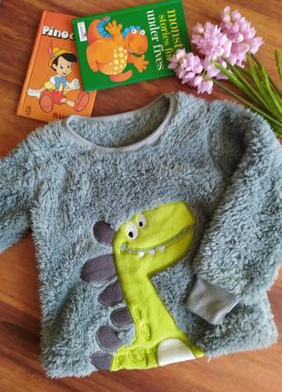 Шикарная меховая кофта для дома и сна lily&dan на 5-6 лет.