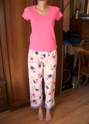 Пижамные штаны светлые в цветы avon uk 14\16