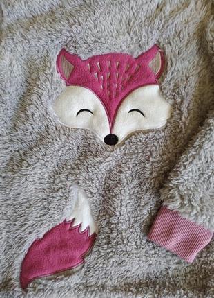 Шикарная меховая кофта для дома и сна lily&dan на 9-10 лет.