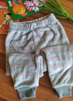 Шикарные меховые штанишки,. брючки для дома и сна lily&dan на 3-4,5-6 лет.