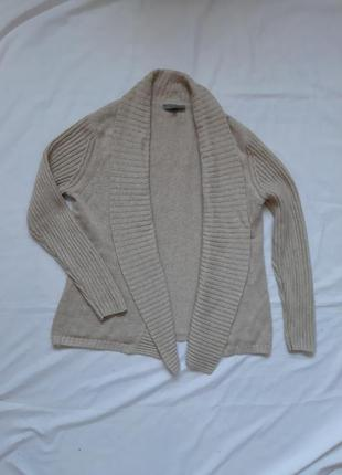 Кардиган, светр, джемпер, кофта, шерсть: кашемір, шовк, бежевий