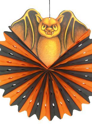 Декор на хэллоуин подвесной летучая мышь с кругом тишью + подарок