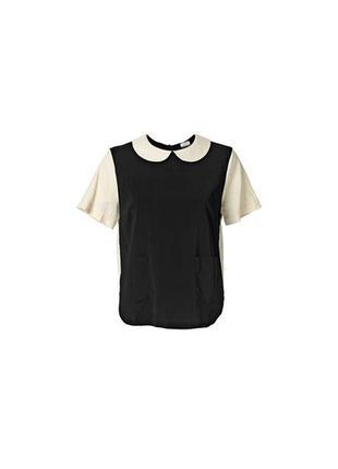 Стильна блуза by malene birger руюашка воротник комір топ