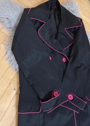 Плащ, пальто, розовый плащ, anna sholz, длинный плащ, плащ на пуговицах, плащ с карманами, черный плащ, чорний довгий плащ