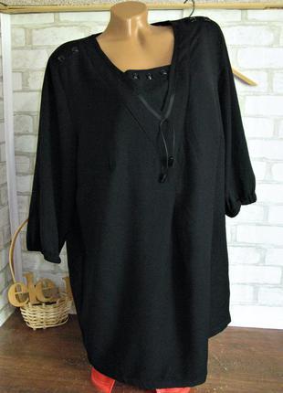 Черная блуза -туника eur 46