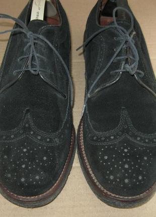 - фирменные замшевые туфли броги - 17 gortz- 43-