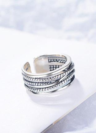 Многоуровневое кольцо витое серебро 925 / большая распродажа!