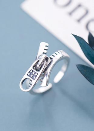 Креативное кольцо молния замок серебро 925 / большая распродажа!