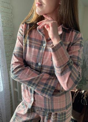 Женская пижама из фланели