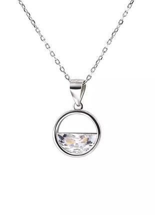 Нежная цепочка серебро 925 с подвеской минимализм / большая распродажа!