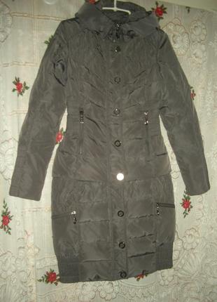 """Куртка+пальто в одном""""snow beauty""""р.s серо-фиолетового цвета."""