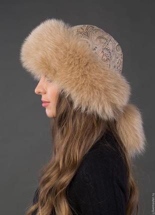 Боярка шапка из меха лисы1