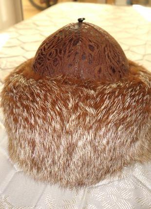 Боярка шапка из меха лисы3