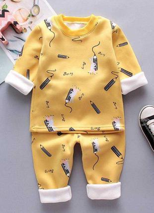 Тёплая пижама детская