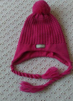 Шикарна шапочка reima з мериносової вовни шапка демисезонная теплая шерсть мериноса термо