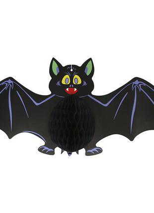 Декор подвесной на хэллоуин летучая мышь 60см +подарок