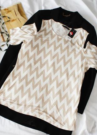 Лёгкая футболка с вырезами на плечах в зигзаг dorothy perkins
