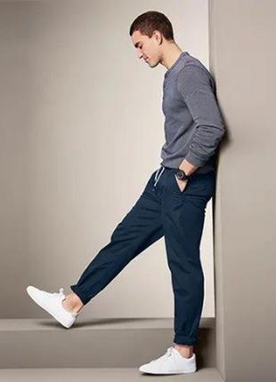 Мега комфортные брюки чинос из натурального хлопка от tchibo (германия) размер л