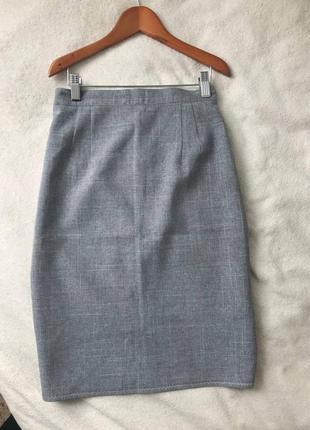 Льняная юбка карандаш / лляна спідниця