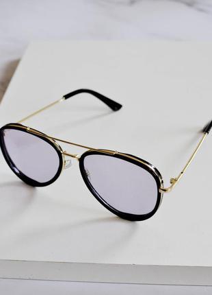 Стильные имиджевые очки черного цвета