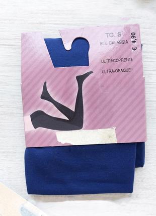 Новые итальянские колготки tezenis 2 s матовые плотные синие