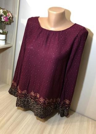 Тонкая кофточка блузка в стиле бохо stradivarius s