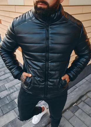 Мужская кожанка asos,куртка отличного качества, турецкая кожа