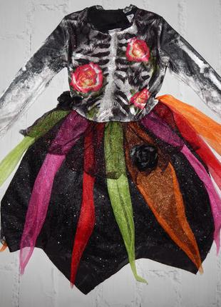 Платье на хеллоуин 3 -8 лет
