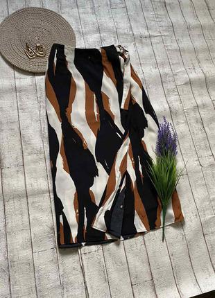 Безумно красивая миди юбка с эффектом запаха