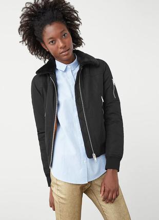 Крутая куртка, бомбер, деми, еврозима, mango, р.s