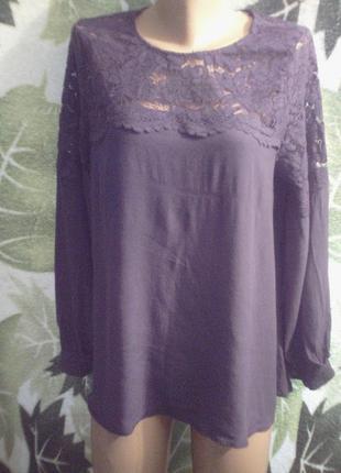 H.m. мама блузка платье кофта кружевная вискоза большого размера или для беременных