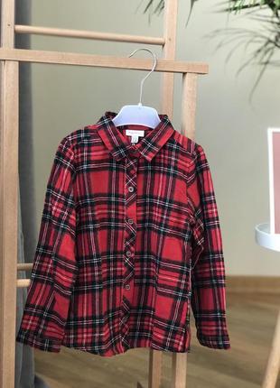 Стильна тепла сорочка 98см
