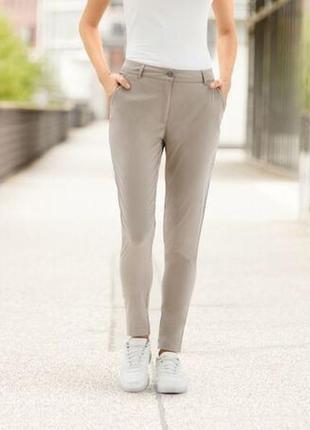 Легкие бежевые женские брюки crivit германия размер 48
