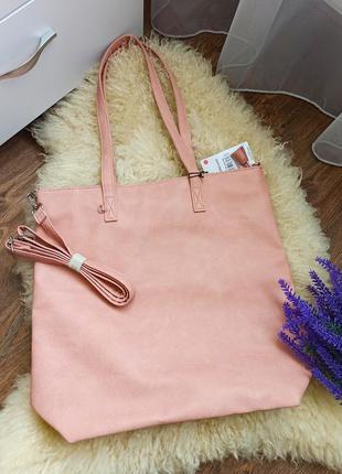 Новая сумочка в пудровом цвете.