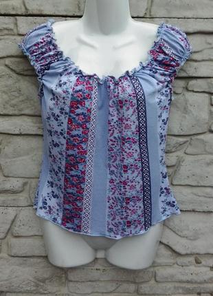 Распродажа!!! много скидок!!! красивая блуза в принт new look