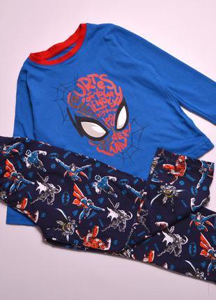 Бавовняна дитяча піжамка, детская пижама супергерои в размере 92-98