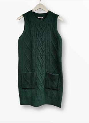 Вязаное платье-свитер ,туника tu