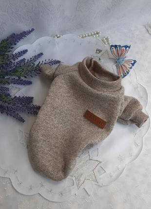🍂❄🐕 свитер худи кофточка на флисе classic утепленный зимний для маленькой собачки