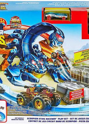 Hot wheels monster trucks gnb05. трек хот вилс скорпион