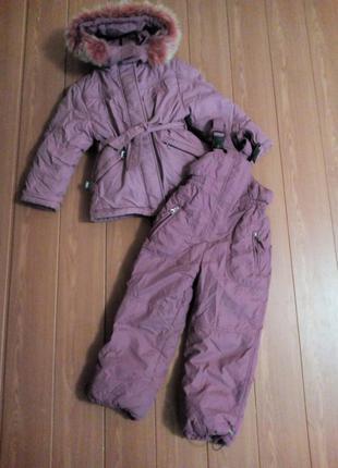 Комбинезон зима жилет куртка штаны от 6 лет пух/перо