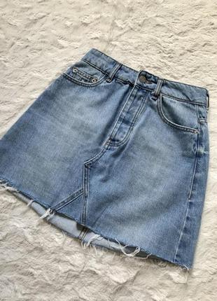 Юбка джинсовая высокая посадка