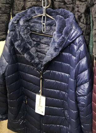 Шикарная куртка на меху,плюшевая,италия,последние размеры.