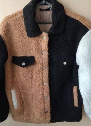 Курточка тедди разноцветная