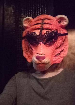 Маска карнавальная, маска тигр