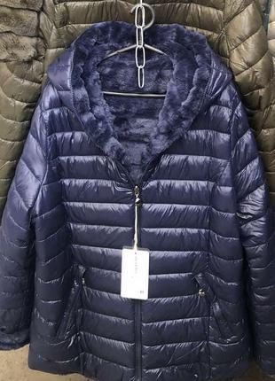 Плюшевая куртка,на меху,шикарное качество, италия, размер 48.